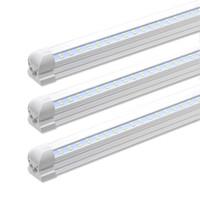 4ft ledli boru fikstür toptan satış-5000K Beyaz 4FT 8FT 28W / 72W Entegre Çift Sıralı LED T8 Tüp ışık 7200LM SMD2835 1.2m 2.4m led floresan aydınlatma armatürü