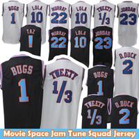 0f7f30c3787 1 Bugs 2 Daffy Duck 1 3 Tweety Movie Space Jam Tune Squad Jersey 10 Lola  Bunny Bill 22 Murray Basketball Jersey