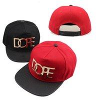 hip hop punk şapkaları toptan satış-Avrupa ve Amerikan tarzı metal standart DOPE perçinler hip-hop timsah desen beyzbol şapkası gençlik hip-hop punk düz şapka
