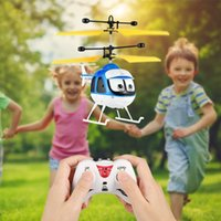 Wholesale kids rc planes for sale - Group buy Induction Flying Toys RC Helicopter Cartoon Remote Control Drone For Kid Plane Floating Toys With Flashing LED Light