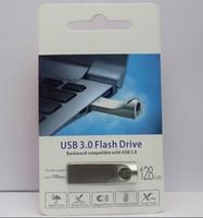 lecteur de mémoire de 16 go achat en gros de-2019 métal 1pcs Clé USB 16 Go 32 Go 64 Go 128 Go Memory Stick USB 3.0-2.0 Disques de disque U logo personnalisé Emballage de vente au détail gratuit