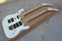 ingrosso agitando la chitarra-Nuovo arrivo kramer chitarra elettrica a doppio cursore 6 6 corde single shake shaking personalizza pick-up singolo bianco