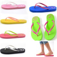 Wholesale Pools Love Pink Flip Flops Candy Colors Beach Pools Slippers Shoes For Women Casual PVC Home Bathroom Sandals home shoes WX9