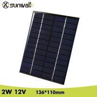 Wholesale epoxy resin solar resale online - mini SUNWALK W V mA Epoxy resin Encapsulate Panel Polycrystalline Silicon Mini Cell for DIY Solar System