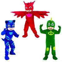 fantasia de mascote de panda cheia venda por atacado-Hot new Mascot Costumes Parade PJ Mask Aniversários Para animal adulto grande festa de Halloween