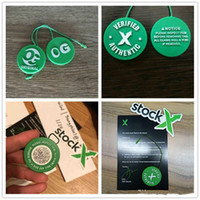 Wholesale circular stickers resale online - Stock X OG QR Code Sticker x QR x Card Green Circular Tag Plastic Verified Authentic Shoe Buckle New Arrival Accessories