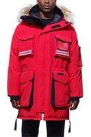 snow parkas men venda por atacado-2020 Homem do inverno casaco de neve Mantra Reflective Parka Down Jacket Men Parkas espessura quente Coats capuz lobo real gola de pele jaquetas