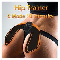 equipo de máquina de fitness al por mayor-Entrenador de cadera Caderas Masajeador corporal Músculo Máquina de ejercicio vibrante Equipo de ejercicios en casa con 6 modos Entrenamiento de la máquina