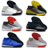 мужская футбольная обувь оптовых-Футбольные бутсы 2019 SuperflyX 6 Elite CR7 IC TF футбольные бутсы Mercurial Superfly VI 360 Дети Мужские футбольные бутсы scarpe da calcio