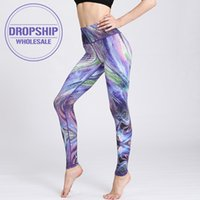 Wholesale sexy yoga pants dance resale online - 2020 Fast Dry Women Yoga Pants Workout Print Gym Leggings Running Fitness Training Elastic Sexy Long Tights Trousers for Dancing