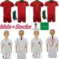 camisolas para rapazes venda por atacado-Kit Kids Portugal Camisolas de Futebol 7 RONALDO menino da juventude Criança 9 EDER 10 J.MARIO 3 PEPE 8 J.MOUTINHO home away Jersey