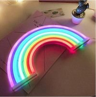 indoor neonlichter großhandel-Neue nette Regenbogen-Leuchtreklame LED-Regenbogen-Licht-Lampe für Schlafsaal-Dekor-Regenbogen-Dekor-Neonlampen-Wand-Dekor-Weihnachtsneonröhre