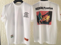 ingrosso le migliori donne in cotone t-shirt-Best Quality 1a: 1 Heron Preston Nuova Collezione Stampata Donna Uomo T shirt Tees Hiphop Streetwear Uomo Cotone T Shirt manica corta