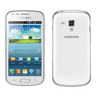 samsung'un cep telefonları açıldı toptan satış-Yenilenmiş Samsung GALAXY Eğilim Duos II S7572 S7562I 3G Cep Telefonu 4.0 Inç Ekran Android4.1 WIFI GPS Çift Çekirdekli Unlocked Cep Telefonu