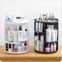Wholesale whites lipstick for sale - Group buy 360 Rotating Makeup Organizer Storage Box Adjustable Plastic Cosmetic Brushes Lipstick Holder Make Up Jewelry Container Stand
