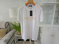 marcas de ropa para hombre de mayor calidad al por mayor-Para hombre Para Mujer Diseñador de la Camiseta de Verano de Alta Calidad Top Tees Color Sólido de manga corta camisas de la marca Pareja Ropa de lujo XS-2XL