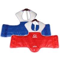 taekwondo sparring zahnrad großhandel-Taekwondo WTF-Sparring-Gang-Brustschutz WTF TaekwonDo-Karate fester reversibler Brustschutz für freies Verschiffen # 296250 der Kinder