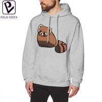 Wholesale panda hat men for sale - Group buy Red Panda Hoodie Red Panda Hoodies Long Nice Pullover Hoodie Purple Mens Autumn Loose XXX Cotton