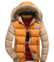 abrigos capuchas para mujer al por mayor-2020 al por mayor capa de los hombres de invierno cuello de la piel del pato chaqueta de Down Parka chaquetas para hombre del fumador con capucha de piel de conejo Deisgner caliente Coats mujeres de la marca