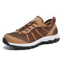 zapatos de escalada al por mayor-2019 hombres otoño zapatos de senderismo de cuero de la PU zapatos casuales de los hombres más el tamaño 47 herramientas de escalada al aire libre masculino
