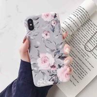 móvil de manzana coreano al por mayor-IPhone Estuches para teléfonos celulares Flor idílica coreana adecuada para carcasa para teléfono móvil Apple XS Max / iPhone 8plus / 7p paquete completo carcasa suave