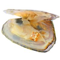 tek taşlar toptan satış-tek kare mücevher 8mm gevşek turuncu kübik zirkon bir istiridye vakumlu doludur