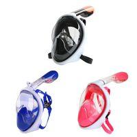 çocuklar için yüz maskeleri toptan satış-Dalış Maskesi Sualtı Silikon Anti Sis Tam Yüz Dalış Maskesi Ayarlanabilir Kadın Erkek Çocuklar Yüzme Aksesuarları
