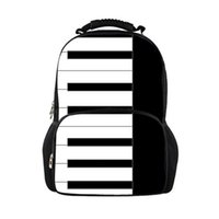 filles de clavier achat en gros de-Sac à dos scolaire sur mesure pour les filles Piano Keyboard Pattern Junior Students School Bags pour les étudiants adolescents cartable
