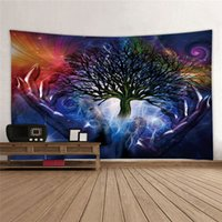impresiones de la pared de la vida del árbol al por mayor-Tapices Tapiz de pared Toalla de playa Transfronterizo especial para nueva vida tapiz de pared de árbol Impresión digital 3D Nuevo estilo