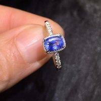 18k gelbgold saphir ring großhandel-Edler Schmuck GFCO Real 18 Karat Gelbgold 100% natürlich Unheizen Blauer Saphir 0,81 ct Edelsteine Saphir Diamanten Weibliche Trauringe