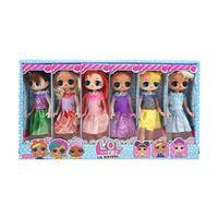 ingrosso giocattoli per bambini misti-9 pollici PVC Kawaii Simpatici giocattoli per bambini Anime Action figure Realistici bambole rinate Regalo 6 stili Mix 6 pezzi / scatola di visualizzazione