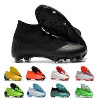мужчины обувь футбол ronaldo оптовых-Mercurial Superfly Футбольные Бутсы Для CR7 Роналду KJ VI 360 FG Мужские Футбольные Бутсы Ronaldo Мужчины Футбольные Бутсы Размер 39-46