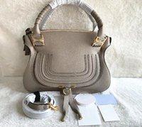 bolsa de couro real de mulher grande venda por atacado-Luxo Clássico 36 cm Grande Capacidade Zíper Saco Do Mensageiro de Couro Real das mulheres Bolsa Totes Designer bolsa Bolsa de Ombro Sacos Crossbody Bag