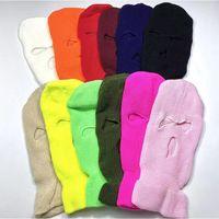 Wholesale cs day resale online - Men s and women s hip hop rap hat Gang headwear cold Hat Wool Hat V embroidery CS go bandit mask rush B