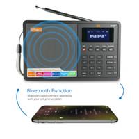 pocket-audio-player großhandel-HEIßER VERKAUF Professioneller schwarzer GTMedia D1 DAB + Radio Stero für UK EU mit eingebautem Bluetooth-Lautsprecher mit LCD-Digitaluhr