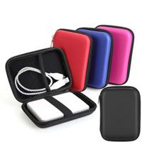 bolsa de transporte usb venda por atacado-Mão HDD Carry Case USB Flash Disco Rígido Maleta de Transporte Bolsa Bolsa para PC Portátil Fone De Ouvido De Armazenamento Sacos