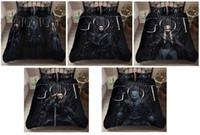 ingrosso 3d bedding set-Il gioco dei diritti 3D Caratteristica stampato copripiumino / trapunte Set di letti matrimoniali, letti gemelli, completi, regina, re