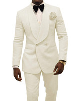 fumando smoking venda por atacado-2019 Moda Smoking Casamento Ternos de Desgaste Do Noivo Custom Made Groomsmen Ternos de Festa Formal de Jantar (Jaqueta + Calça + Arco) Custom Made B11