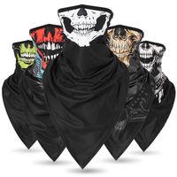 ingrosso sciarpe traspiranti-Maschera di stampa del triangolo traspirante all'aperto tipi colorati Maschere di fiori di anacardi donne di uomini di hip-hop collo di colletto Scarpe sportive di equitazione QQA431