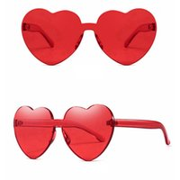 76ffd1d75f Wholesale heart shaped sunglasses for sale - Women Love Heart Shape  Sunglasses Lady Rimless Frame Eyewears