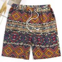 ropa de playa de vacaciones al por mayor-INCERUN Pantalones cortos de algodón Hombres Bermudas Pantalones cortos Playa hawaiana Botas sueltas Fitness Joggers Ropa para vacaciones del sol Pantalon
