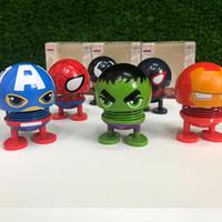 harikulade dekorasyonlar toptan satış-Avengers Bebek Oyuncak Araba Dekorasyon Sallayarak Kafa Bebek Marvel film Avengers4 Komik Antistres Yetişkin Oyuncaklar Çocuk Oyuncakları