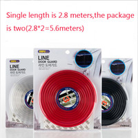 Wholesale sound lining resale online - car door rubber seal Sound Insulation sealing strip weatherstrip noise insulation car auto rubber seal Strips Invisible decoration strip