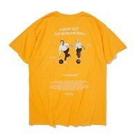 homens gráficos gráficos venda por atacado-Hip Hop Gráfico Impresso Camisas de T 2019 Verão Dos Homens Das Mulheres Harajuku Casual T-shirt de Manga Curta Moda Harajuku
