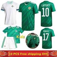 envío gratis camiseta de fútbol al por mayor-La más nueva calidad tailandesa 2020 Irlanda del Norte camisetas de fútbol 2020 2021 Irlanda del Norte hogar lejos camiseta de fútbol MAN + KIDS