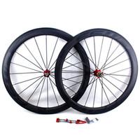 ud tekerlekleri toptan satış-Karbon fiber bisiklet yol tekerlekleri 50mm FFWD F5R BOB bazalt fren yüzey kattığı tübüler yol bisiklet yarış tekerlek jant genişliği 25mm UD mat