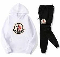 Wholesale Fashion running mens designer MONCL tracksuits sportswear suit men s hoodie pants casual High Quality jacket SS women two piece s xl
