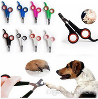 Wholesale free health care online - Stainless steel pet nail clipper dogs cats nail scissors trimmer pet grooming supplies for pets health