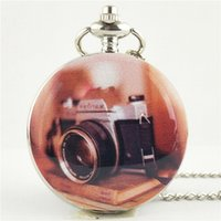 colar de relógio de bolso antigo de prata venda por atacado-Estilo antigo Moda Quartz Rodada Relógio de Bolso Dial Colar Vintage Cadeia De Prata Pingente Dropshipping Elegante Presente Bonito