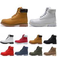 2020 Designer Boots Shoes For Men Women Triple Black White Chestnut Brown Navy Classic Mens Martin Boot Outdoor Jogging 36 45